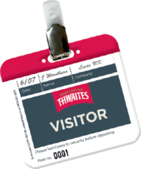 Personalised Visitor Passes Identify Visitors Easily