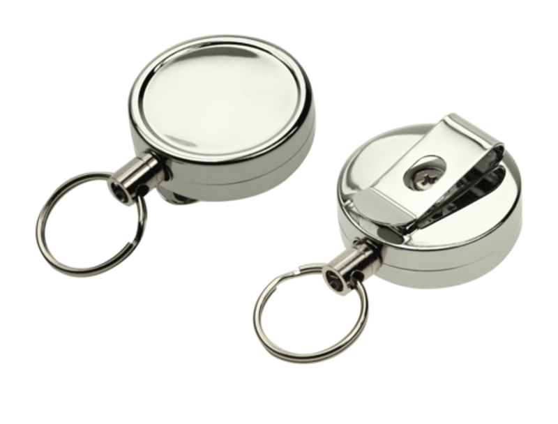 Chrome-Heavy-duty-card-reel-with-key-ring