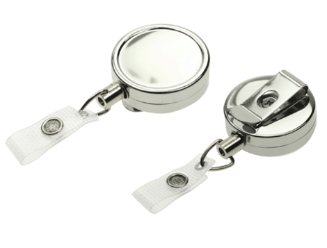 Chrome-Heavy-duty-card-reel-with-Strap-Clip