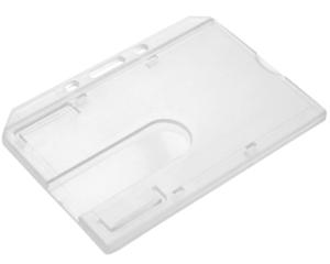 Clear Enclosed ID Card Holder