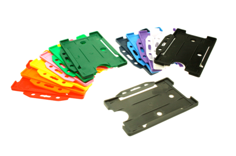 Open Faced Rigid Card Holders - Landscape - All Colours.