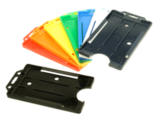 open faced rigid card holders portrait all colours - Plastic Card Holder