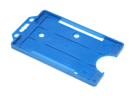 Open-faced-rigid-card-holders--portrait-Blue