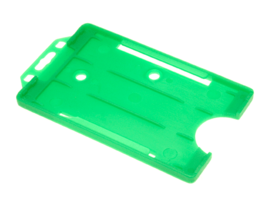 Open-faced-rigid-card-holders--portrait-Green