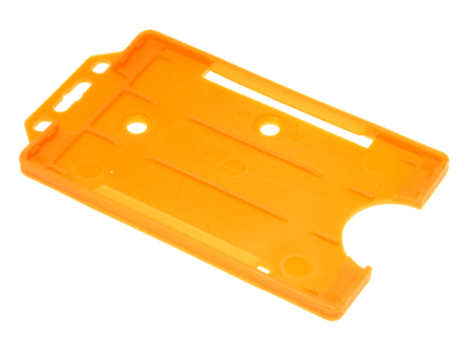 Open-faced-rigid-card-holders--portrait-Orange