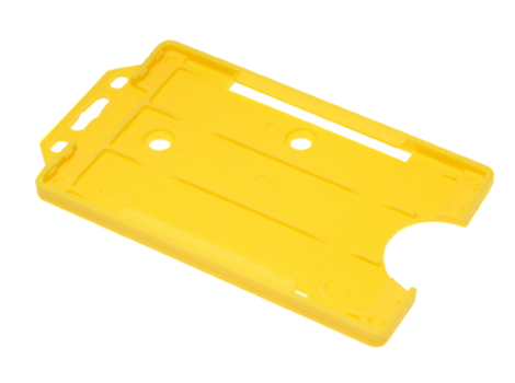 Open-faced-rigid-card-holders--portrait-Yellow