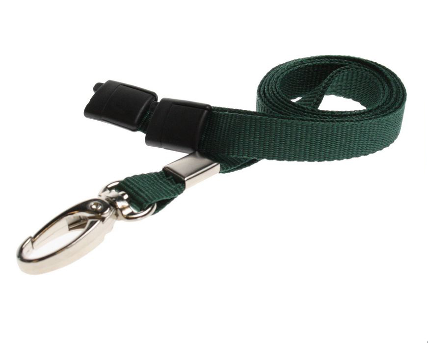 DARK-GREEN-METALCLIP-LANYARD