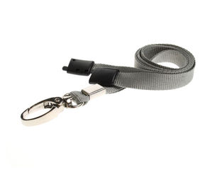 Grey Plain Lanyards