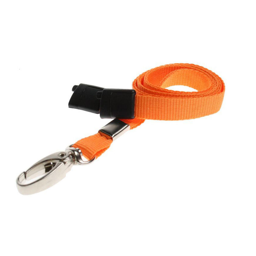 ORANGE-METALCLIP-LANYARD