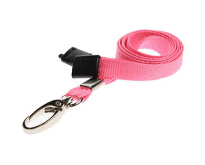 Pink Plain Lanyards