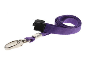 Purple Plain Lanyards