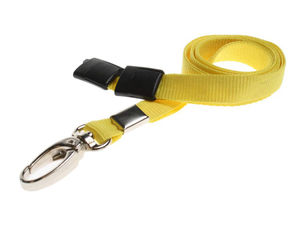 YELLOW-METALCLIP-LANYARD