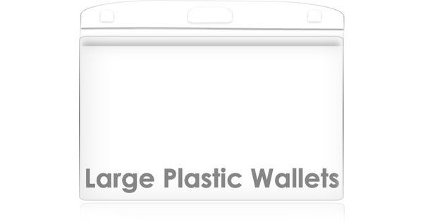 Large Plastic Wallet 100 Pack 105mm x 85mm