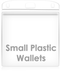 Small Plastic Portrait Wallets 100 Pack 60mm x 85mm