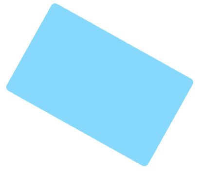 Light Blue Coloured Cards 100 Pack