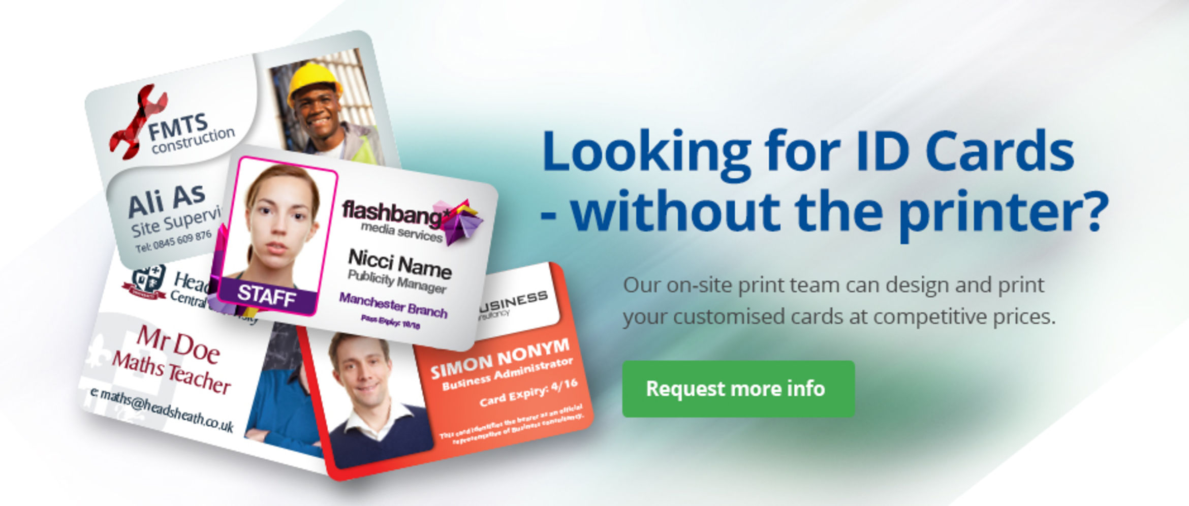 Looking for ID Cards - without the printer?