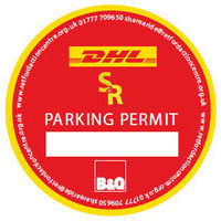 DHL B&Q car pass