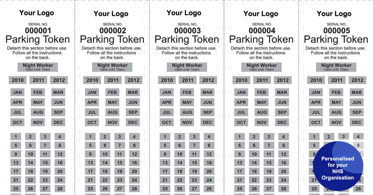 Scratch Off Car Park Permit