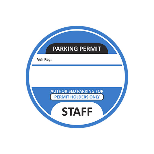Staff-Parking-Permit-Blue