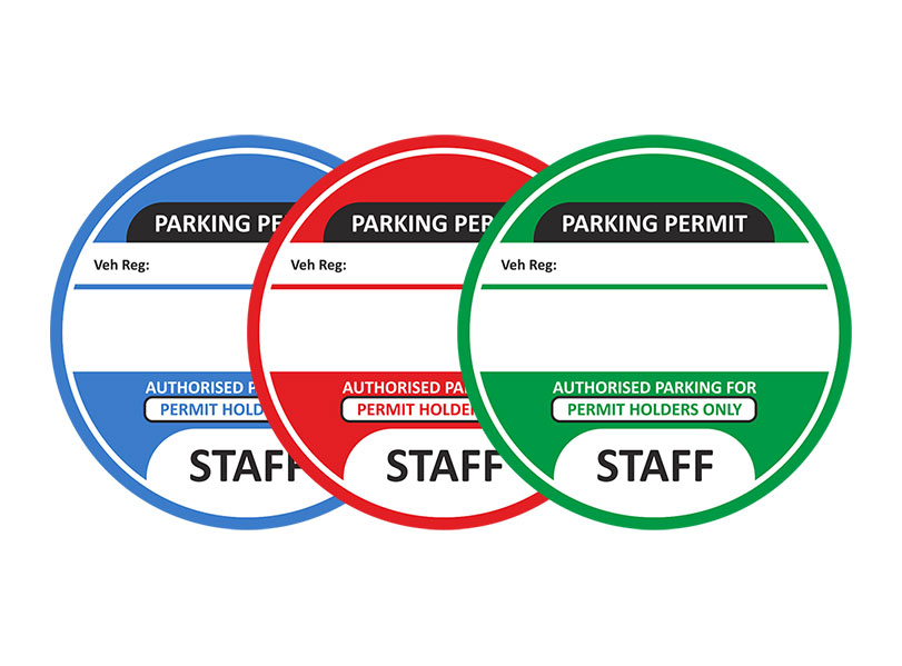 Car Parking Permit Stickers