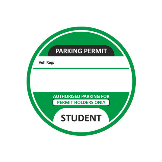 Student-Parking-Permit-Green