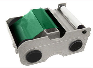 Fargo 44204 Green Mono Ribbon with Cleaning Roller - 1000 Images