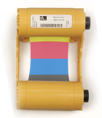 Zebra YMCKO Ribbon/Cartridge, 200 Images Per Roll (P/N 800033-840)