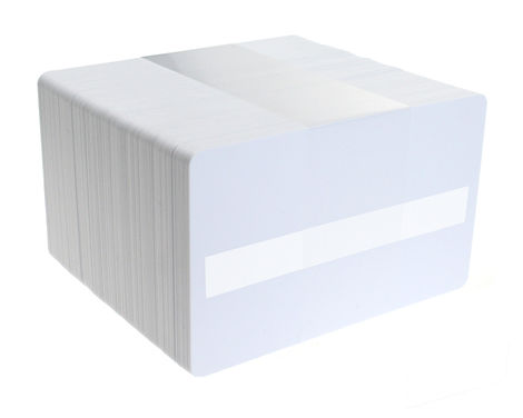 Blank White Dyestar Plastic Cards with Signature Strip - Pack of 100