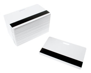 Blank White Dyestar Cards with Mag & Punch Slot - Pack Of 100