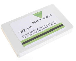 Paxton Net2 692-448 Proximity Cards with Magstripe - Pack of 10