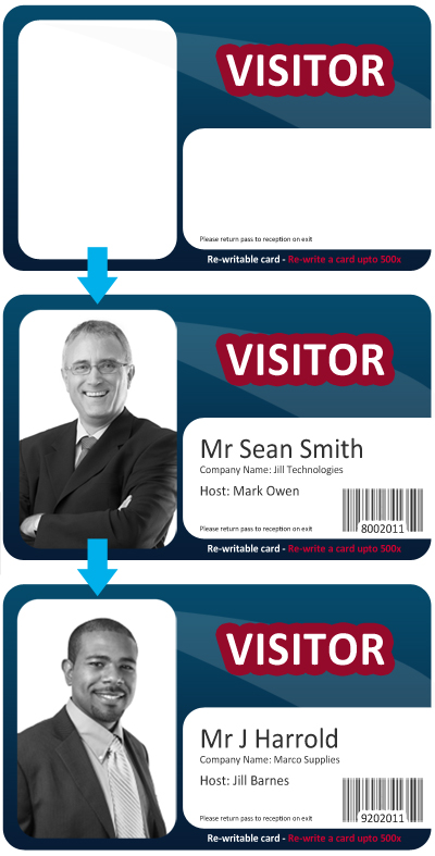 Re-writable-Visitor-Card-Set