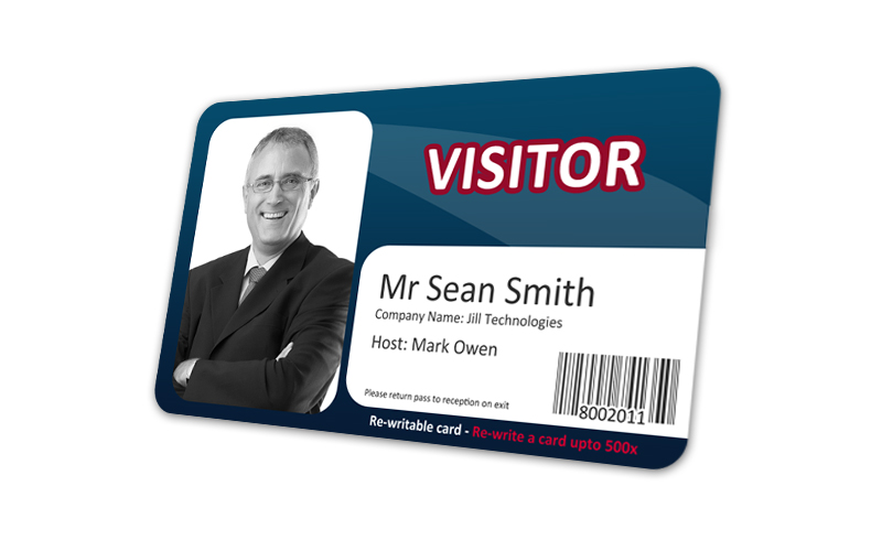 visitor re write id cards cost effective visitor control