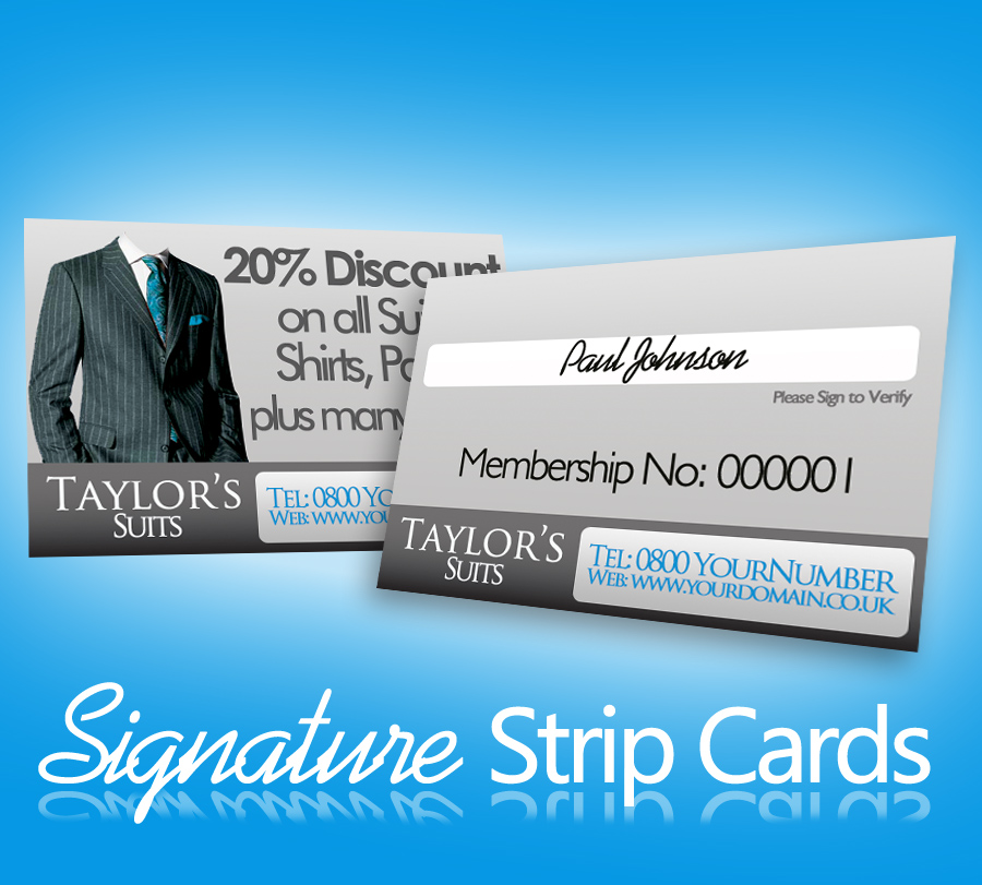 Signature Strip Cards