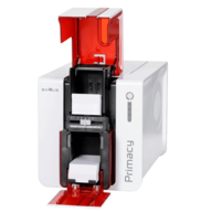 How to insert a ribbon into an Evolis Primacy printer?