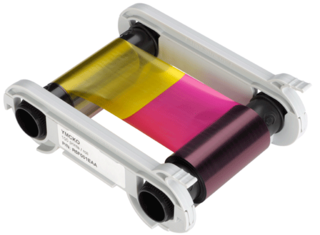 Evolis YMCKO Half Panel Ribbon - 400 Prints
