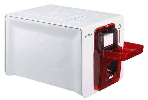 Evolis zenius plastic card printer zenius red left profile card feeder opened 3 stopboris Choice Image