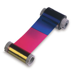 Fargo 44200 YMCKO Colour Ribbon Cartridge with Cleaning Roller - 250 Images