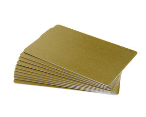 Dark Gold Plastic Cards 100 Pack - 760 Micron