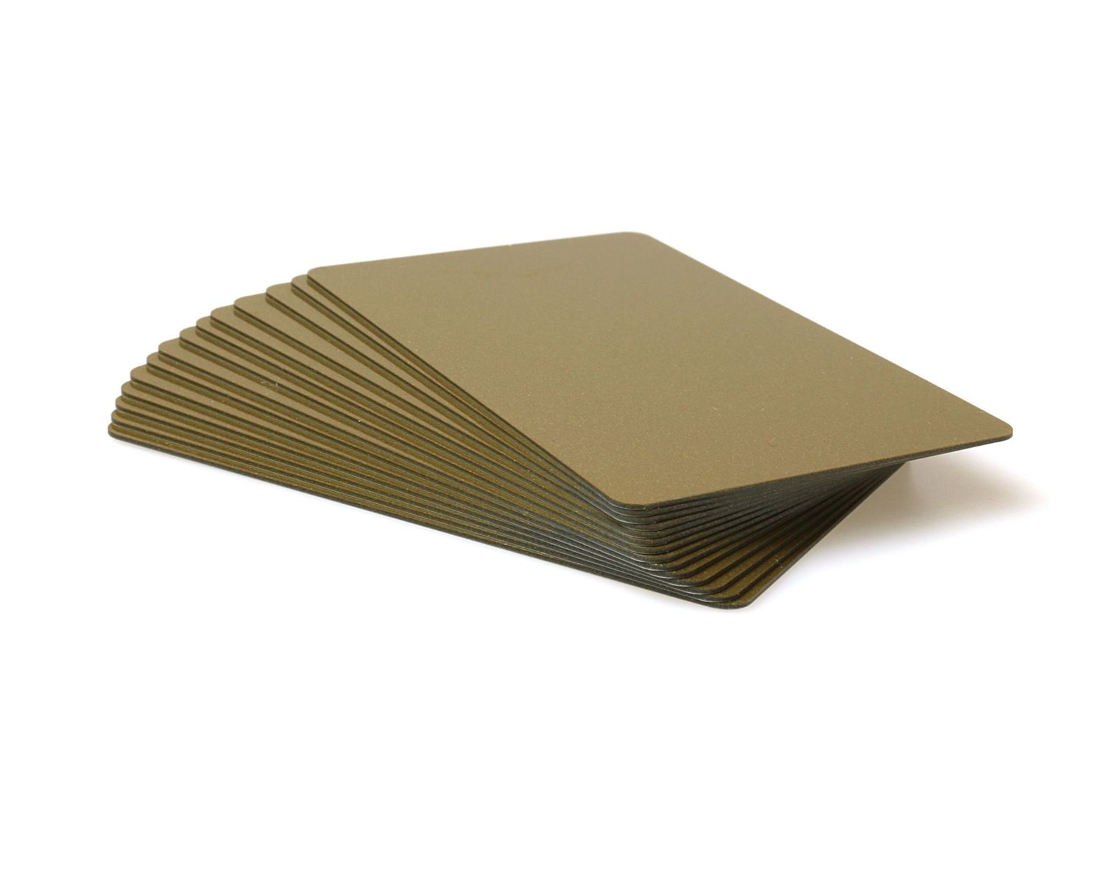 Light Gold Coloured Cards 100 Pack - 760 Micron