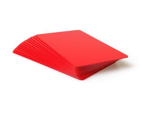 Red Plastic Cards 760 Micron - 100 Pack
