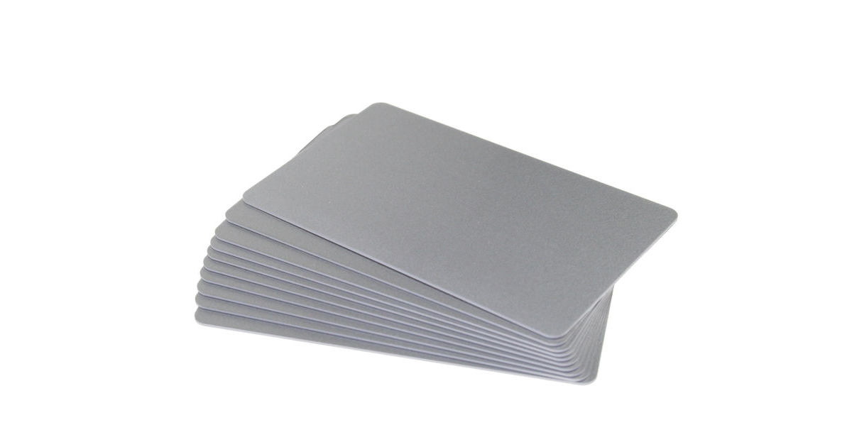 Silver Coloured Cards 100 Pack - 760 Micron