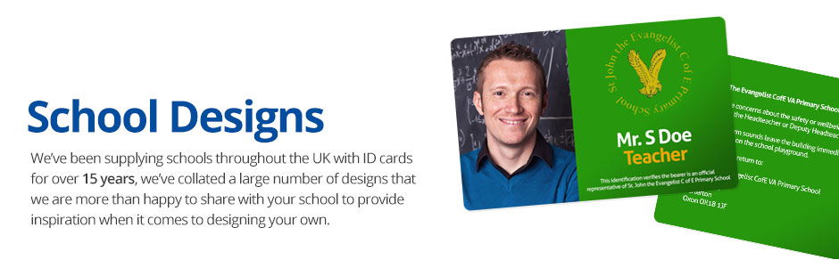 amp; Id Printed Cards School With Your Logo Information