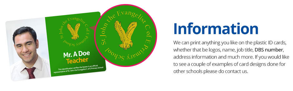 School ID Cards Printed With Your School Logo & Information
