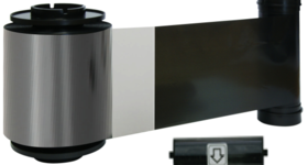 Smart 70 Black resin ribbon and clear overlay with cleaning roller - 1500 prints