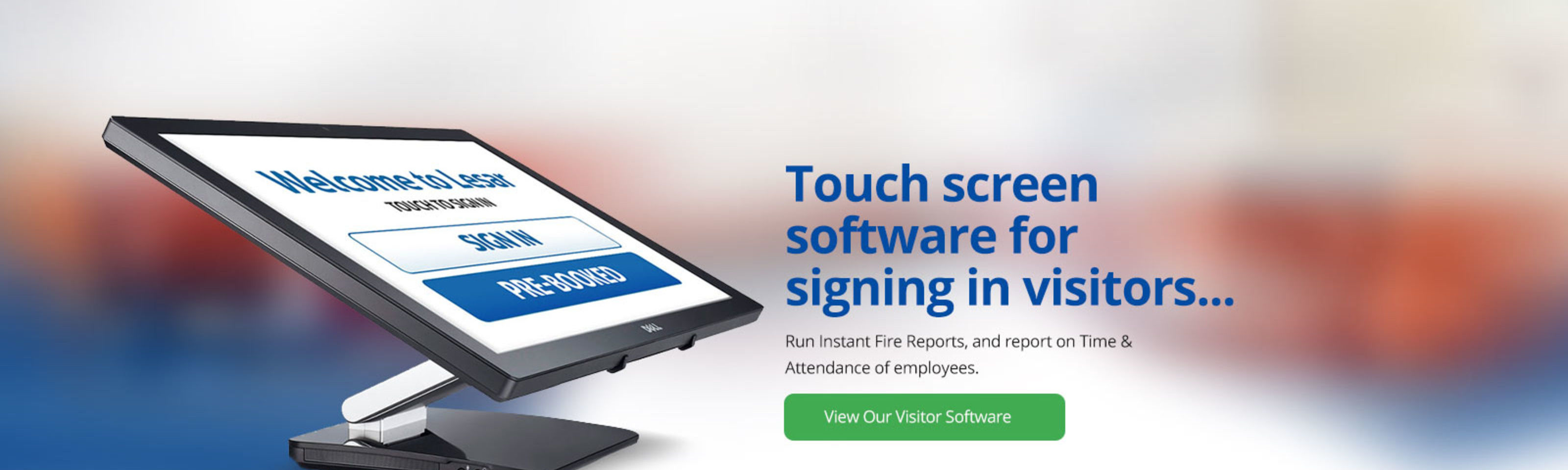 Our Touch Screen Visitor Management Software Allows You To Pre-book Visitors, Contractors, Staff & Students On-Site.